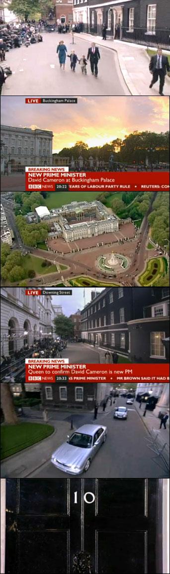 BBC-Aufnahmen vom Regierungswechsel