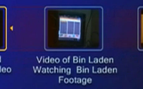 DVD-Menü: Video of Bin Laden Watching Bin Laden Footage