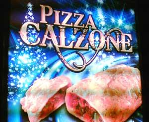 Leuchtreklame für Pizza Calzone