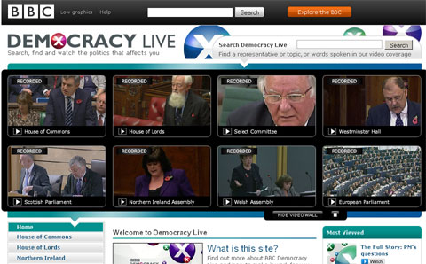 Screenshot Democracy Live