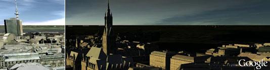 Hamburg in Google Earth