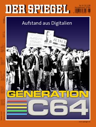 Spiegel-Titelbild: Aufstand aus Digitalien - Generation C64