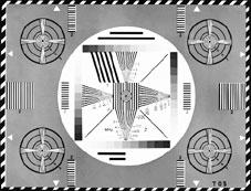 Schwarz-Weiß-Testbild