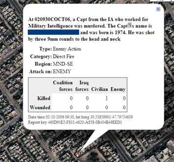 Guardian-Karte zum Irakkrieg