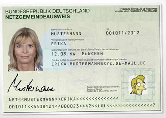 Offiziell aussehender Netzgemeindeausweis