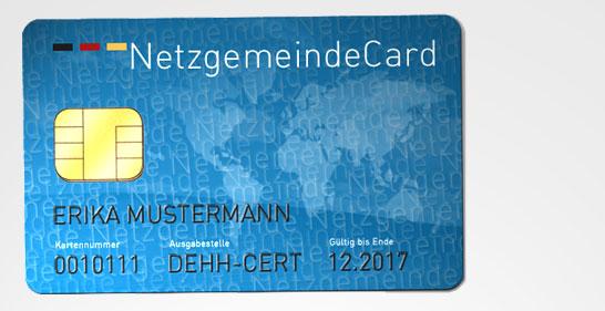 NetzgemeindeCard im Scheckkartenformat