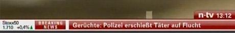 n-tv-Ticker: Gerüchte: Polizei erschießt Täter auf der Flucht
