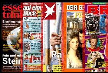 Zeitschriften mit eingezeichnetem Schuppungsgrad
