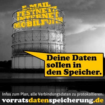 Deine Daten sollen in den Speicher - vorratsdatenspeicherung.de